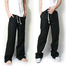 Mens black linen trousers - Zeppy.io
