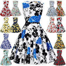 SEXY Women Vintage 40S 50S Retro Housewife Dress Evening Party Prom Swing Pinup