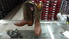 Full Quill Ostrich Tony Lama Mens New Brown Exotic Boots CUSTOM BUILT-GOAT SHAFT