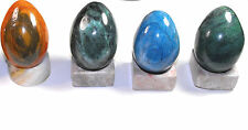 Colorful Onyx Egg with Onyx Stand Collectible Blue Orange Green