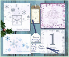 * Snowflake winter WEDDING INVITATION INVITES STATIONERY STYLISH