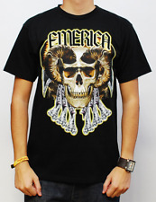 EMERICA GOLD FRONTS BLACK TEE MENS CASUAL SKATE T-SHIRT SKATEBOARD CLEARANCE