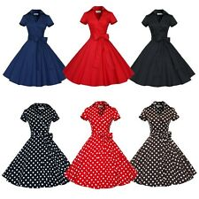 Vintage Retro 50s 60s Housewife Rockabilly Pinup Swing Evening Party Prom Dress