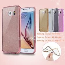 Glitter Silicone Soft Clear Shockproof TPU case cover for Samsung Galaxy Models