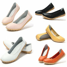 WOMENS LADIES FLAT CASUAL OFFICE LOAFERS SHOES BALLET BOAT SLIP ON SNEAKER SHOES