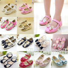 Summer Baby Kids Girls Party Princess Shoes Toddler Sandals Flats Slip On Shoes