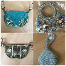 Indian evening bag with beads, stones and sequinces, Indian, ethnic, wedding