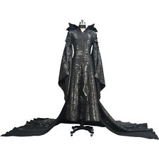 Movie Maleficent Angelina Jolie Costume Halloween Cosplay Outfit Fancy Dress Hot