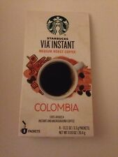 Lot of 50 Packets Starbucks Via Columbia Blend!  FREE SHIPPING! Exp Sept 2016