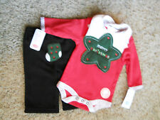 ~ NWT~ bon bebe Infant 3 piece black/red set ~Size 3-6 M ~ MSRP $16.00