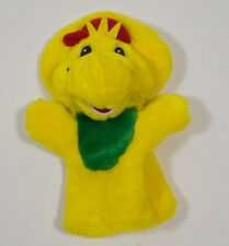 "BARNEY BJ  HAND PUPPET 9"" STUFFED ANIMAL PLUSH TOY YELLOW DINOSAUR"