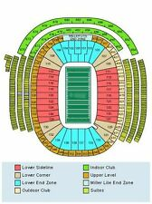 4 TICKETS GREEN BAY PACKERS v CHICAGO BEARS 10/20 LAMBEAU FIELD