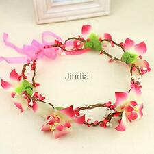 Elegant Bridal Wedding Floral Flower Garland Forehead Hair Head Band