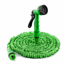 50FT 75FT 100FT EXPANDABLE FLEXIBLE GARDEN HOSE PIPE 3x EXPANDING & SPRAY NOZZLE