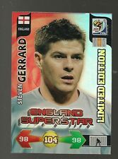 PANINI WORLD CUP 2010 WORLD CUP LIMITED EDITION  TRADING CARD, STEVEN GERRARD