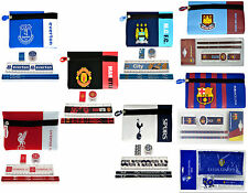 OFFICIAL LICENSED FOOTBALL CLUB EXAM SCHOOL STATIONERY & PENCIL CASE GIFT SET