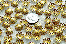 11mm Plated Brass Stamping Filigree Bead Caps bc03(30pcs)
