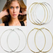 20pcs Charm Women Silver/Gold Slim Basketball Wives Big Circular Ring Earrings
