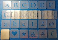 Custom stencil alphabet set letters, numbers, symbols 40 , 50 , 75 ,100 or 150mm