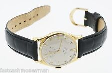 MENS MID SIZE LORD ELGIN 14K YELLOW GOLD MANUAL WIND WATCH IWC CASE 1948 VINTAGE