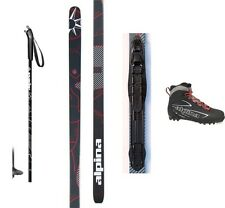 NEW ALPINA CONTROL XC CROSS COUNTRY NNN SKIS/BINDINGS/BOOTS/POLES PACKAGE -190cm