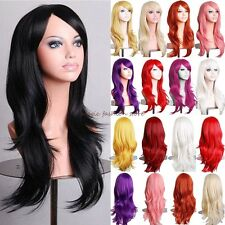 UK Long Layer Straight Full Head Wigs Cosplay Party Fancy Dress Wig Decoration D