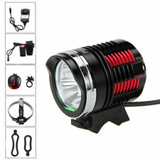 Zoomable 6000LM R8 3*CREE LED Front Bicycle Light Headlamp Laser Rear 6400mAh