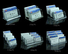 Freestanding Business Cards Holders Acrylic Counter Dispensers Display Stands B1