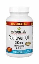 N/Aid  Cod Liver Oil 550Mg Caps  33% Free | 90+30+s | - BIG Multipack Savings