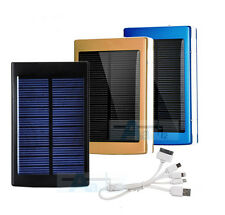 Portable 50000mAh Solar Power Bank 2USB LED Battery Charger For Mobile Phones