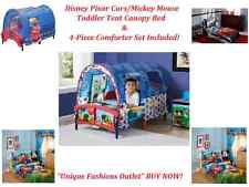 ~~Disney Pixar Cars/ Mickey Mouse Tent Toddler Canopy Bed ~Bedding Included~~