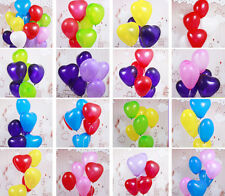 100pcs Colorful Heart Shaped Latex Balloons Wedding Birthday Party Valentines