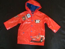 "DISNEY CARS ""LIGHTNING McQUEEN HOODED RAIN JACKET NWTS FULLY  LINED SO CUTE"