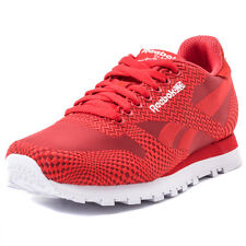 Reebok Classic Run Jacquard Womens Trainers Red New Shoes