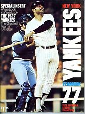 1977 New York Yankees Official Yearbook, Excellent Condition
