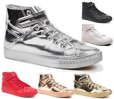Womens Faux Leather Women's Trainers Sneakers Classic Casual Leisure Sport Shoes