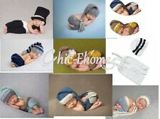 Newborn Baby Girls Boys Crochet Knit Hat Costume Photo Photography Prop Outfit