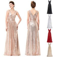 Sexy V-neck Long Evening Dress Bridesmaid Dress Party Formal Prom Cocktail Gown