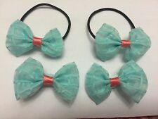 pair of hair tie with matching bow  hair clips for sale toddlers girls