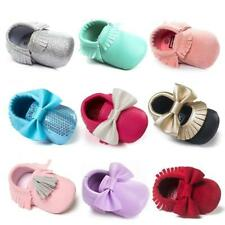 Baby Boy Girl Moccasin Crib Shoes Toddler Kids Soft Soled Leather Shoes Cute New