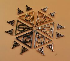 Bulk Lot Deathly Hallows Harry Potter Triangle Charm Pendant Bracelet Necklace