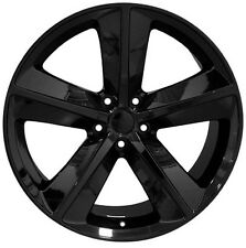 "Set (4) 20x9 Dodge Challenger SRT Style Replica Black Wheels Rims 20"" SRT8 New"