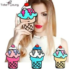 3D Lovely Cute Ice Cream Silicone Soft Phone Cover Case For iPhone 5/6/6s/6Plus