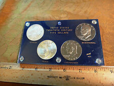United States 20th Century BU Type Dollars 4-Coin Set Morgan, Peace & Ike