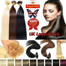 """New 16-24""""200s Pre Bonded U/Nail Tip Remy Human Hair Extensions Straight UK U139"""