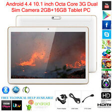 "10.1"" Tablet PC Octa-Core 2GB+16GB Android 4.4 3G WIFI Dual SIM Camera Bluetooth"