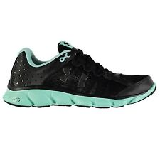 Under Armour Micro G Assert 6 Running Shoes Womens Blk/Crystal Trainers Sneakers