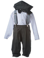 NEW Boys Grey Knicker Sets, Kids Formal Outfits - Infants, Toddlers, & Boys Size