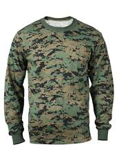 Woodland DIGITAL Camo LONG SLEEVE T-Shirt MARPAT Camo US Marine Corps USMC L/S