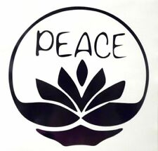 Peace Lotus Flower Girly Cool Car Truck Window Vinyl Decal Sticker 12 COLORS